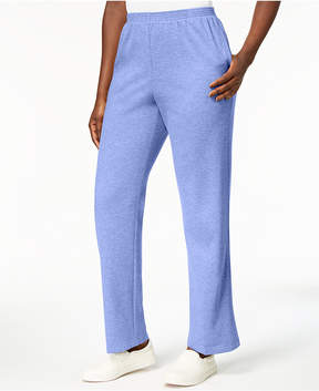 Alfred Dunner Pastel Skies Pull-On French Terry Pants