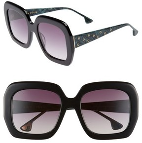 Alice + Olivia Women's Lexington 55Mm Square Sunglasses - Black