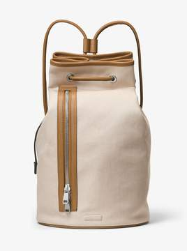 Michael Kors Nathaniel Canvas Bucket Bag