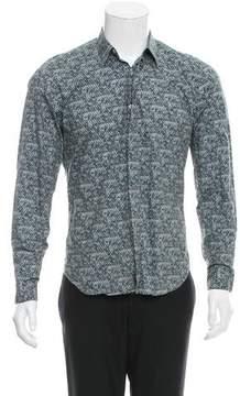 Calvin Klein Collection Abstract Print Button-Up Shirt