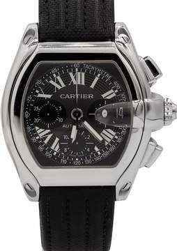 Cartier Pre-Owned Men's Roadster Chronograph Leather Watch