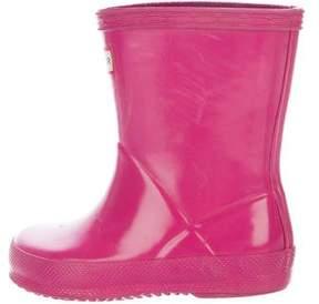 Hunter Girls' Rubber Rain Boots