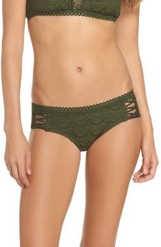 Becca Women's Lace Up Hipster Bikini Bottoms