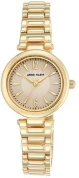 Anne Klein Goldtone Round Blush Dial Dress Bracelet Watch