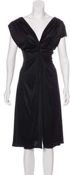 Bill Blass Ruched Midi Dress
