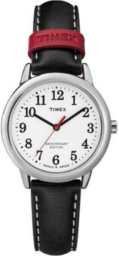 Timex Women's Easy Reader 40th Anniversary Black/White Watch, Leather Strap