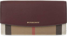 Burberry House check continental leather wallet - MAHOGANY RED - STYLE