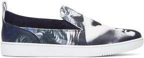 Versace Multicolor Collage Slip-On Sneakers