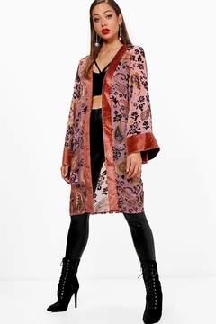boohoo Devore Velvet Kimono