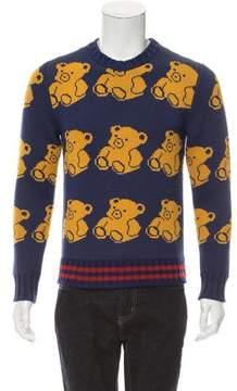 Gucci Wool Bear Intarsia Sweater
