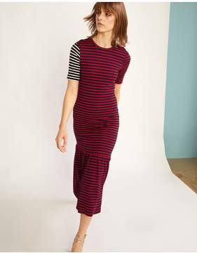 Cynthia Rowley | Hang Ten Striped Dress | L | Red/navy