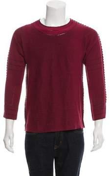 Issey Miyake Raw-Edge Crew Neck Sweater