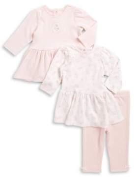 Little Me Baby Girl's Patterned Peplum Tops and Leggings Set