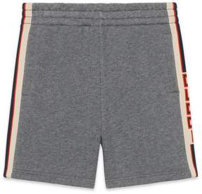 Gucci Children's short with jacquard trim