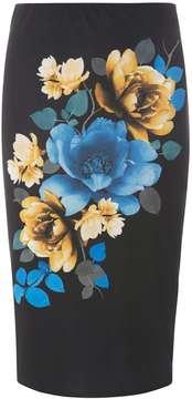 Dorothy Perkins Black Digital Floral Print Pencil Skirt