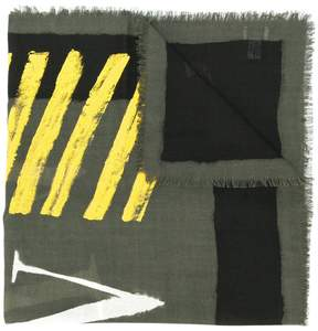 Valentino fringed printed scarf