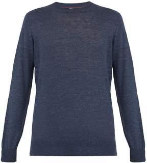 Brunello Cucinelli Crew-neck linen-blend sweater