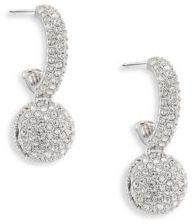 Adriana Orsini Pave Ball Small Hoops Earrings/0.75