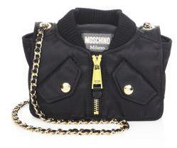 Moschino Metallic Chain Strap Crossbody Bag
