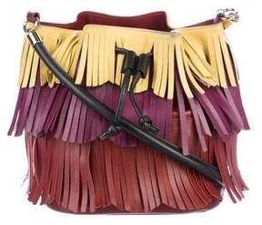 Sara Battaglia Fringe Leather Crossbody Tote