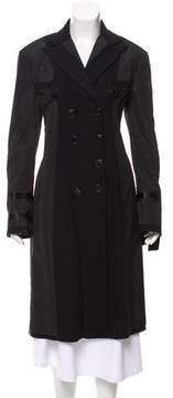 Donna Karan Wool-Blend Double-Breasted Coat