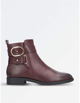Miss KG Ladies Wine Modern Trinny Buckle-Detail Ankle Boots