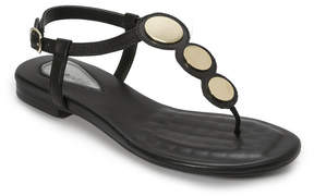 Foot Petals Black Ellie Leather T-Strap Sandal - Women