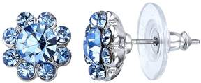 1928 Blue Button Stud Earrings