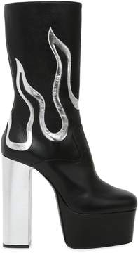DSQUARED2 170mm Flames Leather Ankle Boots