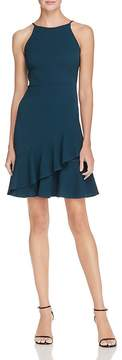 Aqua Textured Ruffle-Hem Dress - 100% Exclusive