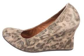 Lanvin Printed Leather Wedges