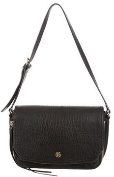 Elena Ghisellini Pebbled Leather Shoulder Bag