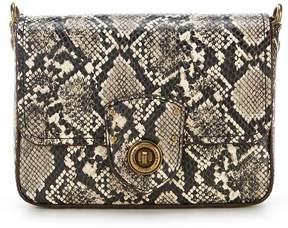 Lauren Ralph Lauren Millbrook Snake-Skin Chain Cross-Body Bag