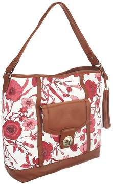Isaac Mizrahi Live! Bridgehampton Printed Canvas Hobo Bag