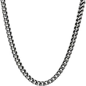 JCPenney FINE JEWELRY Mens Antiqued Stainless Steel 22 5mm Foxtail Chain