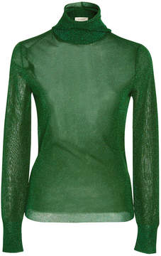 DELPOZO Long Sleeve Lurex Sweater