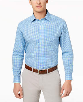 Club Room Men's Classic/Regular Fit Bold Gingham Dress Shirt, Created for Macy's