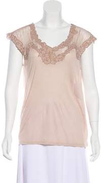 Ella Moss Sleeveless Lace-Accented Top w/ Tags
