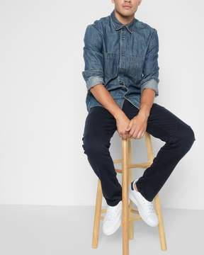 7 For All Mankind Luxe Performance Colored Denim: The Straight in Night Navy