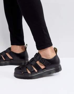 Dr. Martens Vibal Closed Sandals In Black