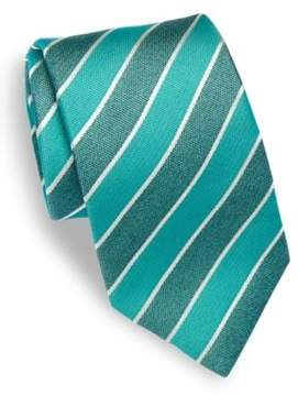 Isaia Diagonal Striped Silk Tie