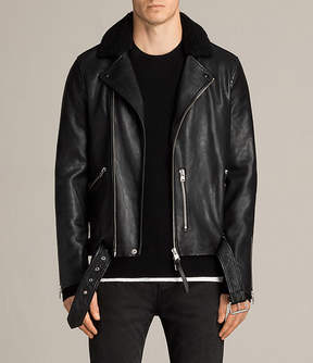 AllSaints Hawk Leather Biker Jacket