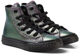Converse Violet Metallic Chuck Taylor All Star Junior Hi Tops