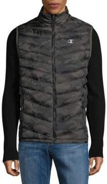 Champion Camo-Print Quilted Puffer Vest