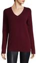 Cashmere Solid V Neck Sweater