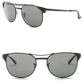 Ray-Ban Signet Polarized 55mm Aviator Sunglasses