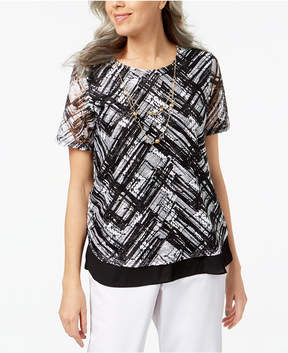 Alfred Dunner Barcelona Necklace Top