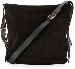 Michael Kors Naomi Large Mixed Leather Shoulder Bag - BLACK - STYLE