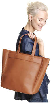 Joe Fresh Women's Open Tote Bag, Dark Tan (Size O/S)