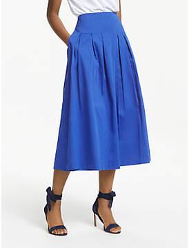 Boden Theodora Pleated Midi Skirt, Cobalt
